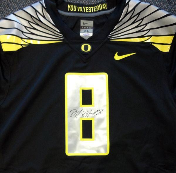Marcus Mariota Autographed Oregon Ducks Black Nike Jersey Size XL