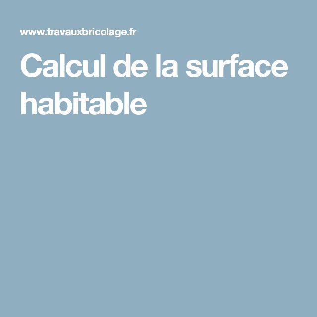 Calcul de la surface habitable
