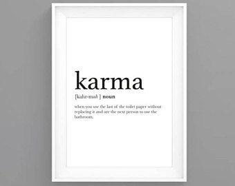 Definition Karma Affiche Scandinave Decoration Murale