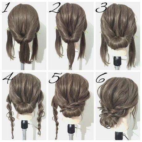 Simplement beaux chignons pour cheveux longs