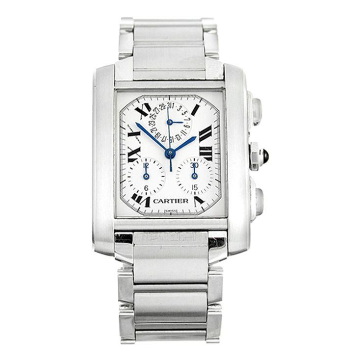 Men's Silver/White Chronoflex Watch - Vintage Watches - Private sales | BrandAlley