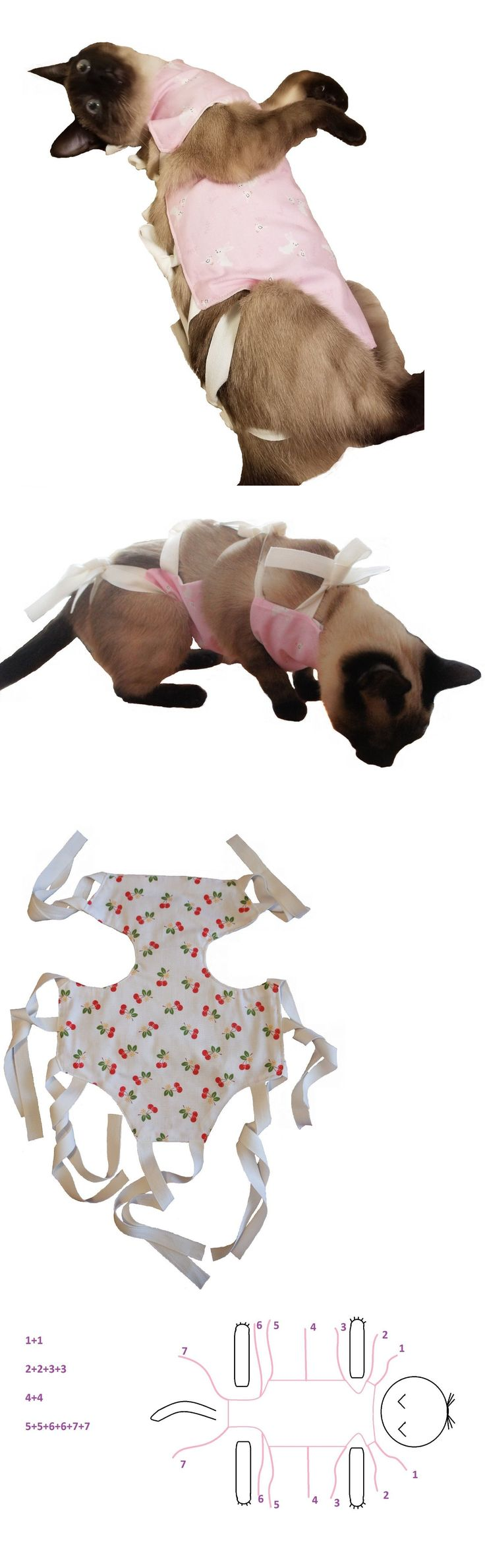 Clothing 168139 Cat Recovery Suit, After Surgery Spay