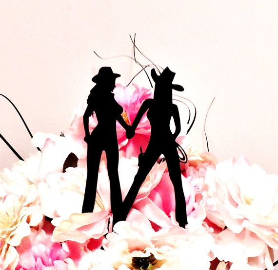 Wild West Cowgirls Cake Topper by YourPersonalEngraver on Etsy