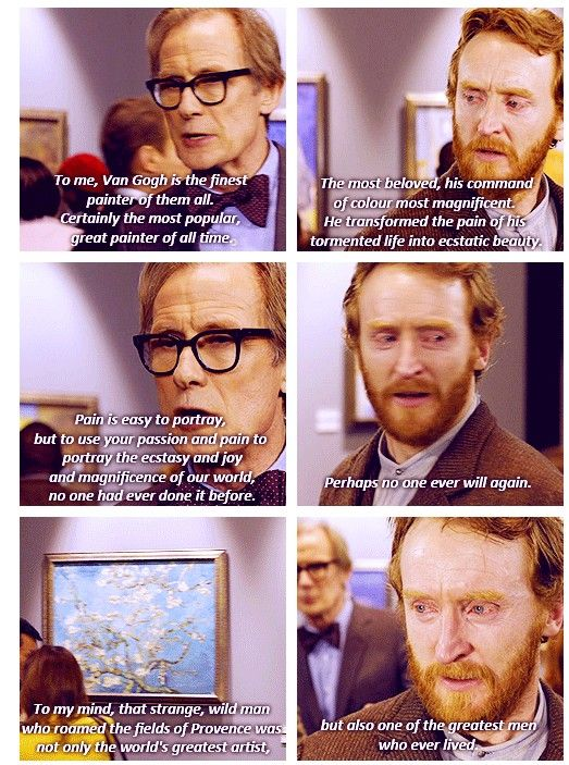 I love Van Gogh! And this episode of Doctor Who is one of many that have made me cry. Such a beautiful scene