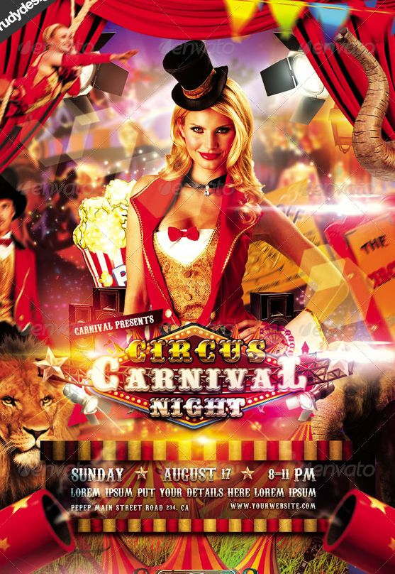 20 best Best PSD Carnival Flyer Templates images on Pinterest