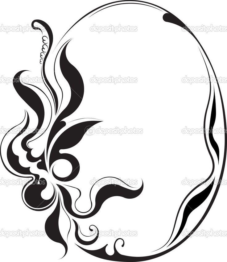 элегантный Овальный фрейм. вектор - Стоковая иллюстрация: 32427315