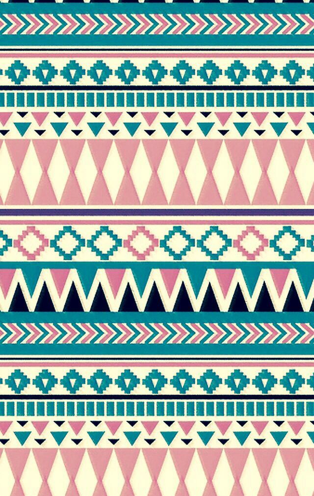Light pink and blue Tribal print | Wallpapers | Pinterest ...