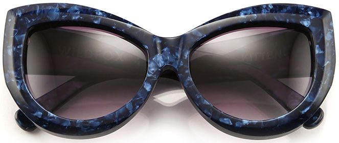These striking blue hued beauties are bold and strong and will suit savvy girls with sassy attitudes and the confidence to carry them off. The solid, highly stylised frames give off a vibe of contemporary cool, and the cateye shape lends a feminine edge to an otherwise fairly tough girl look. Wear them for a drink in the beer garden with friends, to an outdoor cinema screening, or a barbeque where you know you're going to be mingling lots – these shades were made to be seen!
