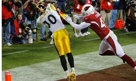 Super Bowl: Santonio Holmes is the hero as the Pittsburgh Steelers beat the Arizona Cardinals to win for a record sixth time