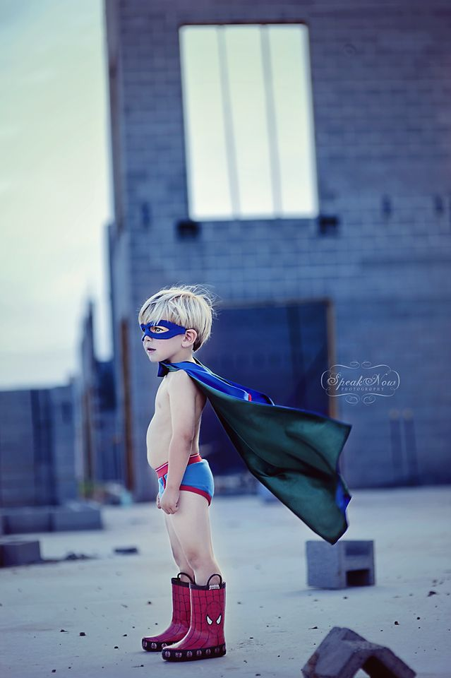 Speak Now Photography: There is nothing I love more than photographing children, unless it is a themed shoot designed specifically for the child to showcase his or her personality and  individuality.  This image so perfectly captures the imagination of a little boy who really believes he can grow up and be a superhero.
