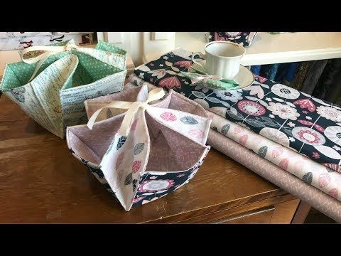 Quick and Easy Fabric Organizer | Use your charm pack! - YouTube