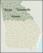 Georgia State Sectional 5 Digit Zip Code Maps