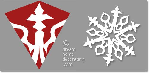 hexagonal paper snowflake pattern