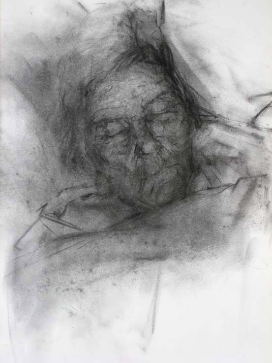 giny grayson  Untitled, 2010  Charcoal on paper. 38 x 28 cm
