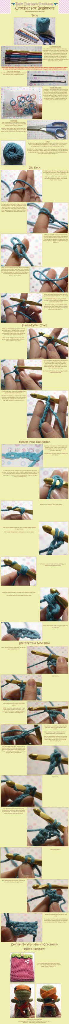 Crocheting Lessons For Beginners : Beginners crochet tutorials on Pinterest Learn to crochet, Crochet ...