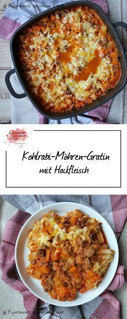 Kohlrabi-Möhren-Gratin mit Hackfleisch   Rezept   Kochen   Essen