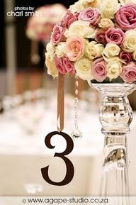 vintage mirror wedding table number - Google Search
