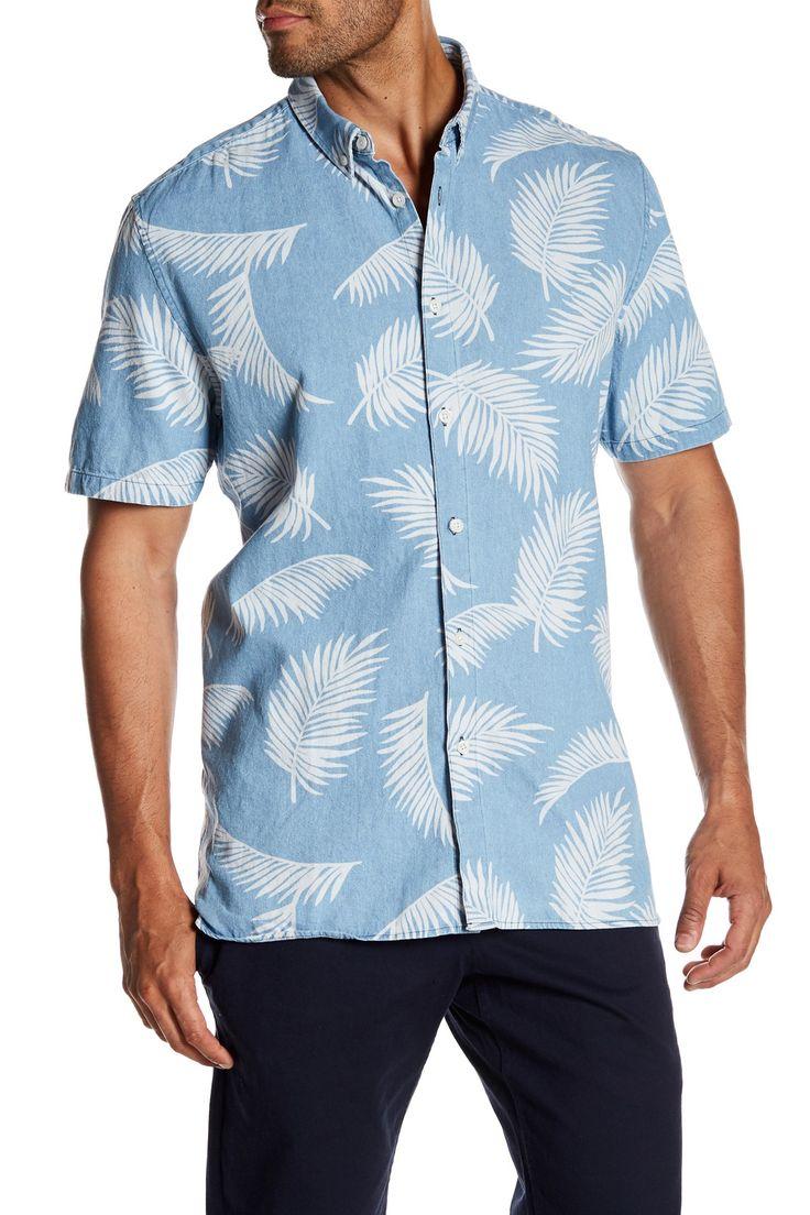Bahamas Short Sleeve Pattern Regular Fit Shirt