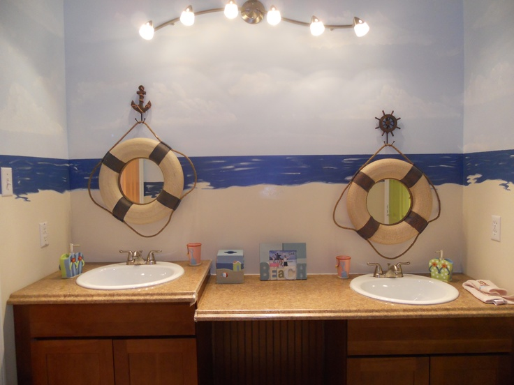 Nautical Bathroom Mirrors: 100 Best Images About Nautical Bathroom! On Pinterest