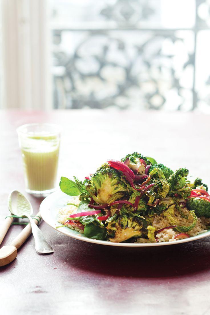 Broccoli Stir-Fry with Ginger-Avocado Sauce