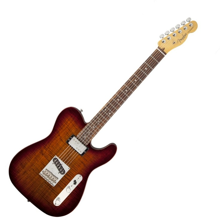 Fender Select Carved Top Telecaster SH Electric Guitar, Rosewood Fingerboard
