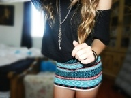 this outfit: Minis Skirts, Dreams Closet, Cute Outfits, Aztec Skirts, Pencil Skirts, Tribal Skirts, Long Necklaces, Tribal Prints, Cute Skirts