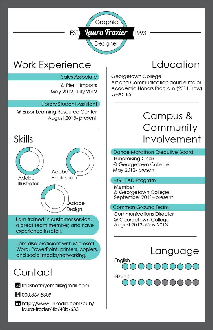 17 best images about infographic resume on pinterest