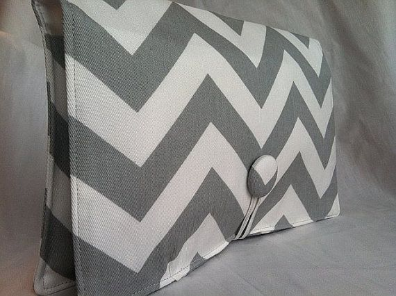 Boutique Diaper Wipe Clutch Grey Chevron  Organize by ALittleBlush, $20.00