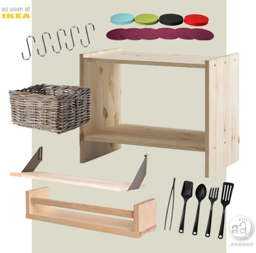 diy: a simple, wooden playkitchen | artsy ants blog post on how to make a simple wooden playkitchen with the pictured ikea items!