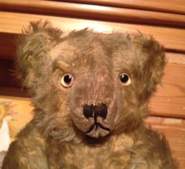 Antiker, uralter großer Teddybär Antique Teddy Bear Teddybear Mohair Bing? 47cm