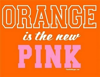 Love this! ORANGE is the new PINK!