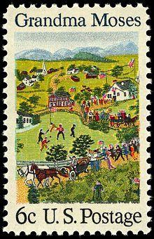 1969 US postage stamp honoring Grandma Moses