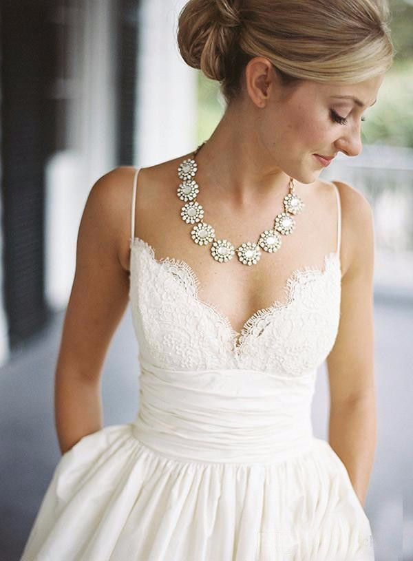 Best 25  Wedding dresses with straps ideas on Pinterest | Pretty ...