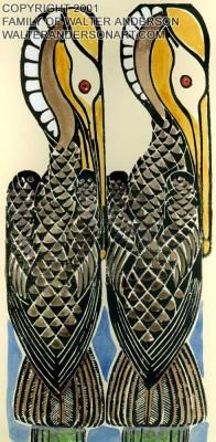 Walter Anderson prints, my favorite artist and he lived on the Gulf Coast..