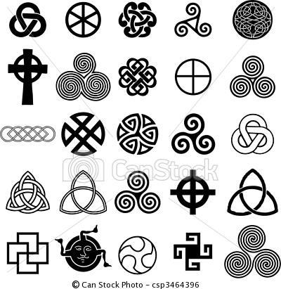 Clip Art Vector van Set, Keltisch, SYMBOLEN, iconen, Vector, tatoeëren,... csp3464396 - Zoek naar Clipart, Illustratie, Tekeningen en EPS Vector Grafieken Beelden