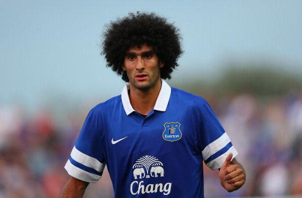 Marouane Fellaini of Everton during a pre season friendly match between Accrington Stanley and Everton at The Store First Stadium on July 17, 2013 in Accrington, England