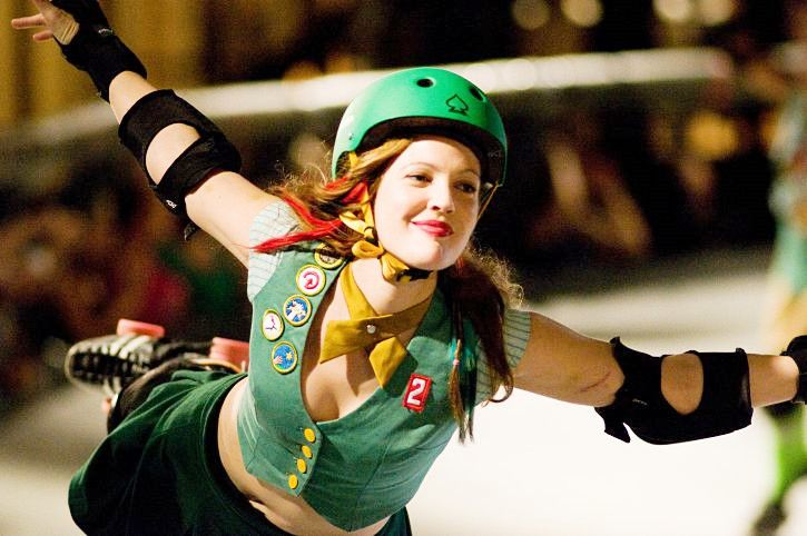 not gonna lie - I think my BF is totally supportive of me doing derby because of his Drew Barrymore crush. ;) whatever works!