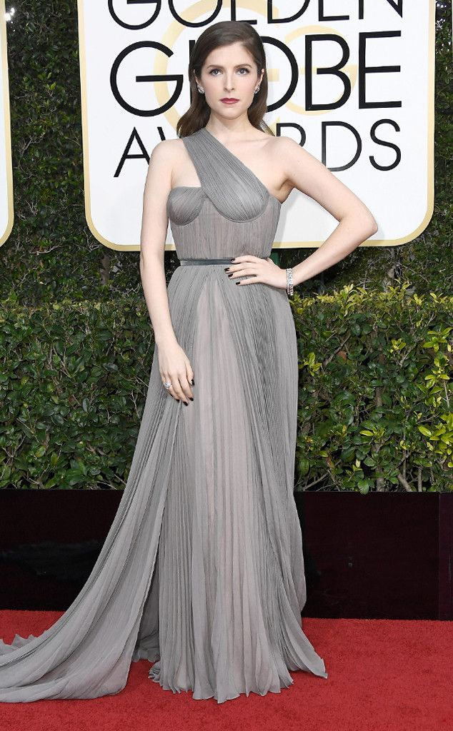 Anna Kendrick from 2017 Golden Globes Red Carpet Arrivals  In Vionnet