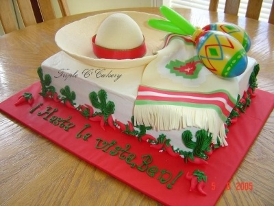 Mexican Party Cake By tripletmom on CakeCentral.com