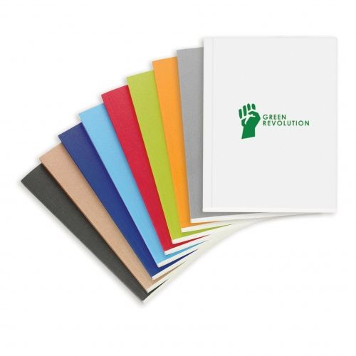 ECO Notebook pages and covers are colored with organic, soy based inks and are made in Canada with 100% recycled materials