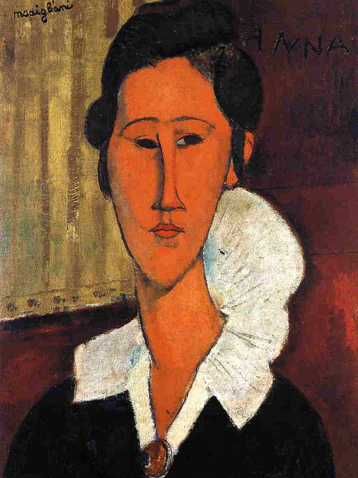 Anna (Hanka) Zborowska Amedeo Modigliani - Date unknown - Galleria Nazionale d'Arte Moderna - Roma