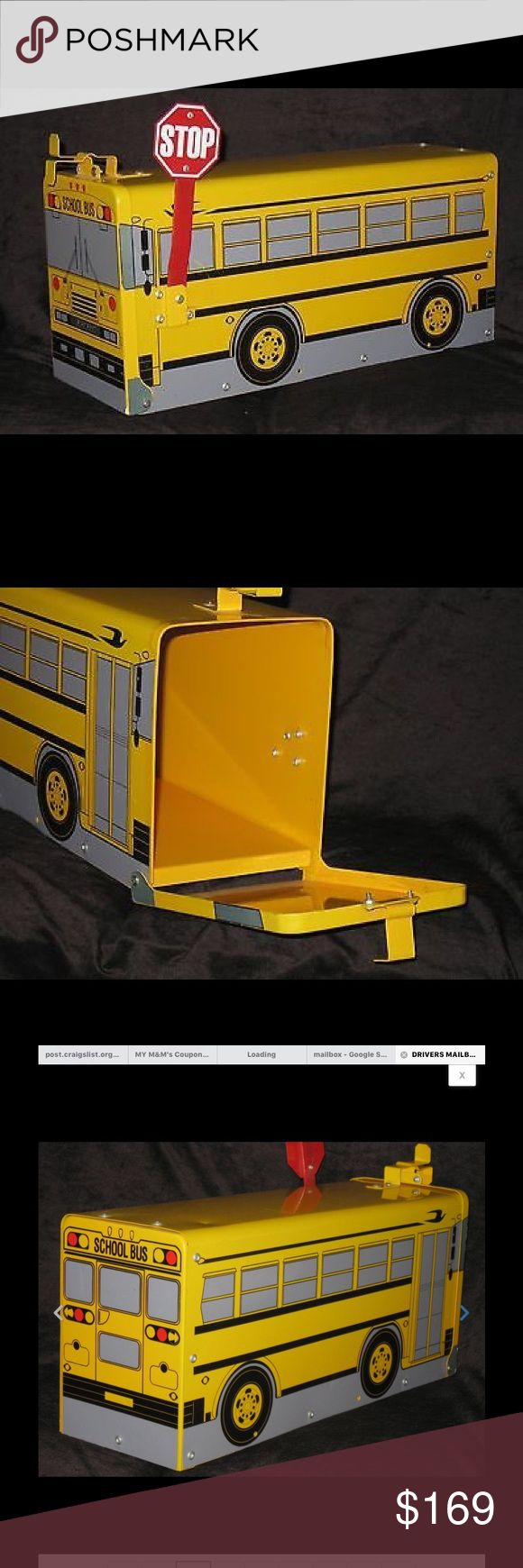 Very very Rare School Bus Metal Mailbox What a great gift for a school bus driver or teacher.  Very hard to find!!!! Brand New.  No scratches......no dents....perfect!  Blue Bird School Bus Blue Bird Other