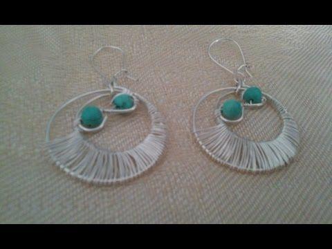 clases de bisuteria aretes de moda aros artesanales zarcillos zarcillo de moda alambrismo bisuterias - YouTube