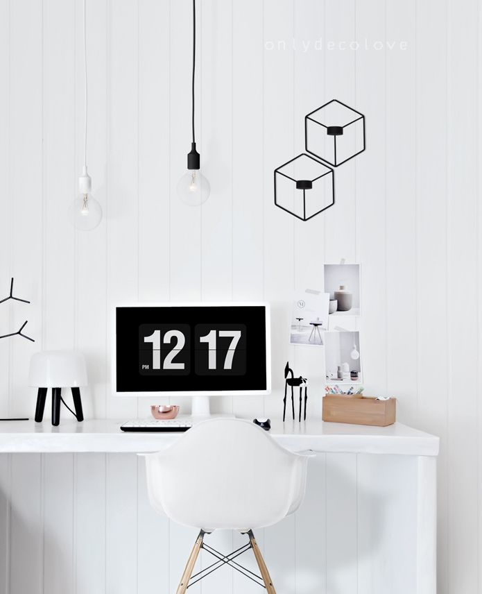 "Menu POV Candle holders spotted in ""White and bright Nordic home office from Only Deco Love"""
