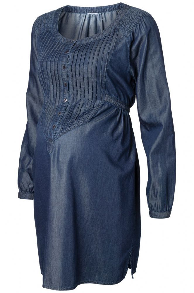 Denim maternity dress made from 65 cotton keeping your body temperature regulated weather outdoors in the cold or indoors with the central heating on