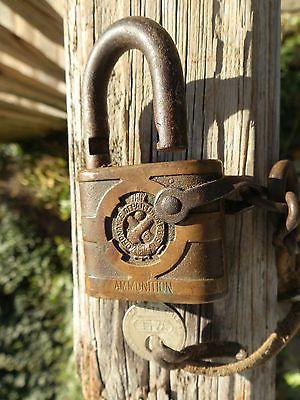 Yale-padlock-marked-034-Ordinance-Dept-034-U-S-Ammunition-with-key