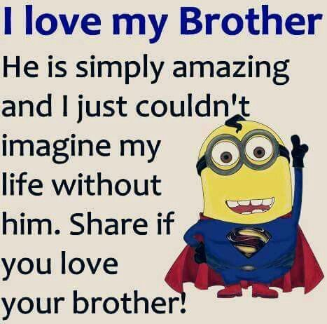 My Brother Is The Best Brother Of The World Quotes 13 Best Images