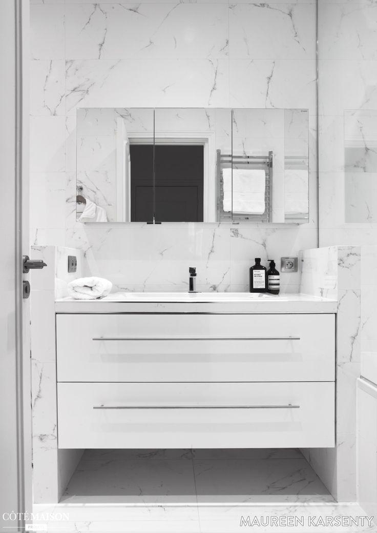 les 25 meilleures id es de la cat gorie salles de bains en marbre sur pinterest douches en. Black Bedroom Furniture Sets. Home Design Ideas