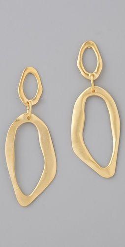 Kenneth Jay Lane Vogue Australia -July 2017 Gold Flower Earrings Polished gold zmV8uvKlT