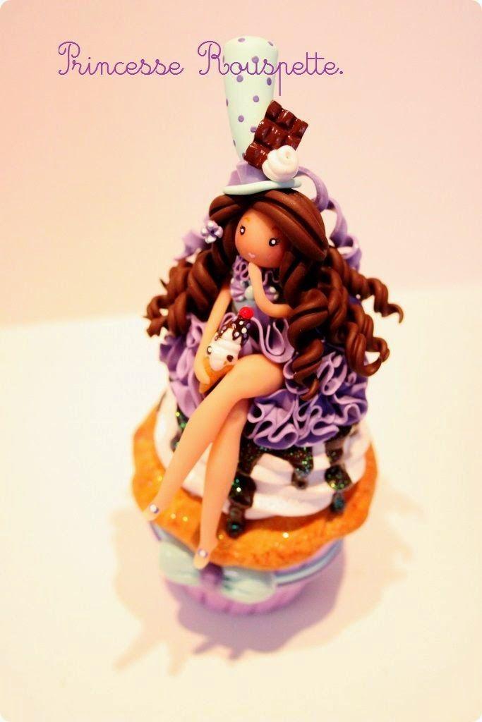 Princesse rouspette: Poupée Cupcake chocolat.